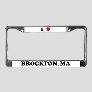I Love Brockton License Plate Frame
