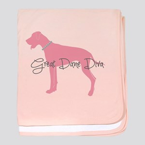 Diamonds Great Dane Diva baby blanket