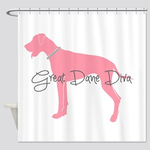 Diamonds Great Dane Diva Shower Curtain