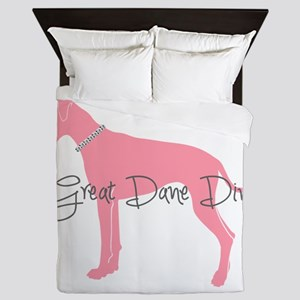 Diamonds Great Dane Diva Queen Duvet