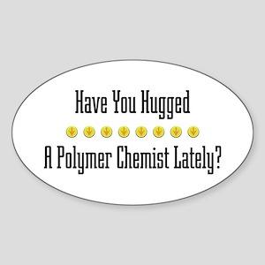 Hugged P. Chemist Oval Sticker