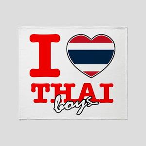 I love Thai boys Throw Blanket