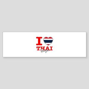 I love Thai boys Sticker (Bumper)