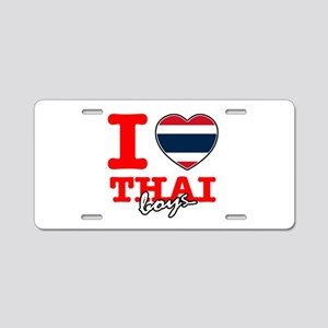 I love Thai boys Aluminum License Plate