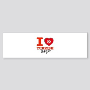 I love Turkish Boys Sticker (Bumper)