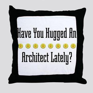 Hugged Architect Throw Pillow