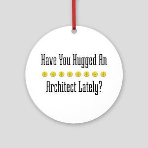 Hugged Architect Ornament (Round)