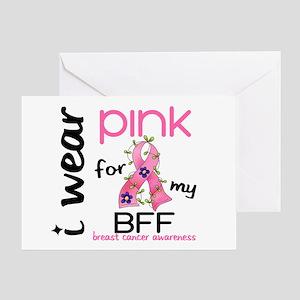 I Wear Pink 43 Breast Cancer Greeting Card
