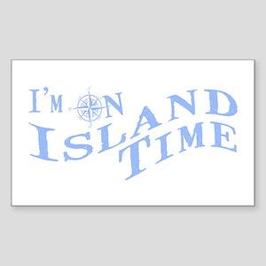 Island Time Sticker (Rectangle)