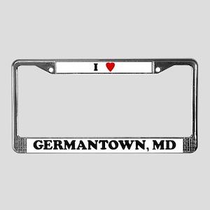 I Love Germantown License Plate Frame