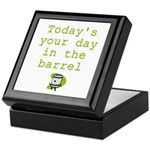 Your Day in the Barrel Keepsake Box