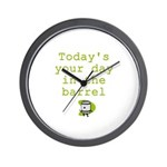 Your Day in the Barrel Wall Clock