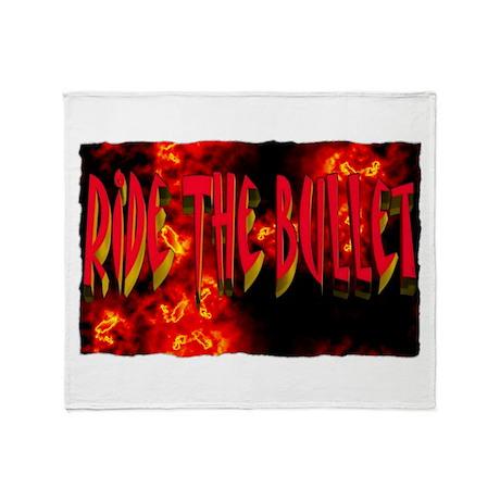 ride the bullet Throw Blanket
