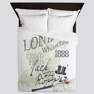 Jack the Ripper London 1888 Queen Duvet