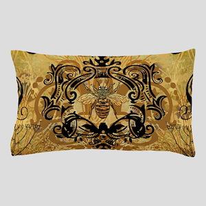 Golden Bee Garden Pillow Case