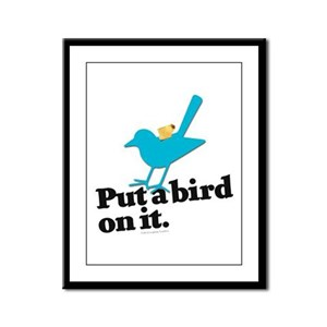Putabird.3 Framed Panel Print