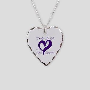 Stop Lymphoma Necklace Heart Charm