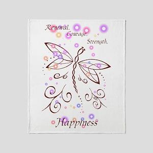 Dragonfly Daydream Throw Blanket