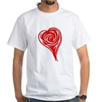 The Heart of the Red Rose White T-Shirt