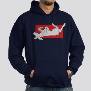 Weim On Back Hoodie (dark)