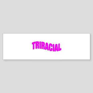 Triracial Pride Bumper Sticker