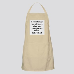 Changes Her Oil BBQ Apron