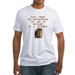 Easy There Mr. Testosterone Fitted T-Shirt