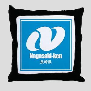"""""""Nagasaki-ken"""" Throw Pillow"""