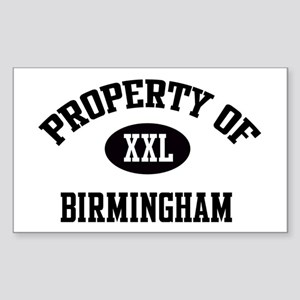 Property of Birmingham Rectangle Sticker