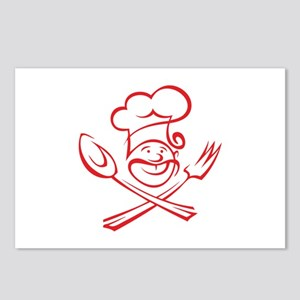 Chef With Moustache Postcards (Package of 8)