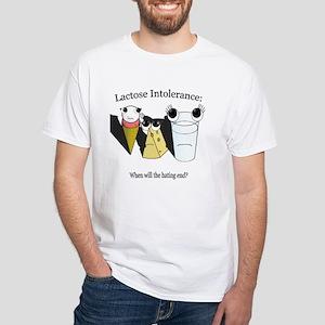 Lactose Intolerance White T-Shirt