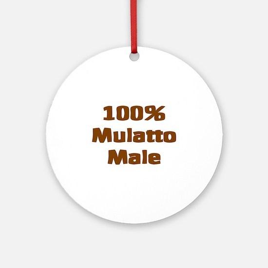 Mulatto Male/ Biracial Pride Ornament (Round)