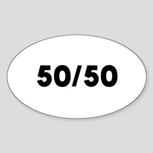 Biracial Pride Oval Sticker