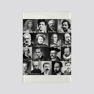 French Lit Faces Rectangle Magnet