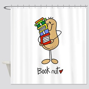 Book Nut Shower Curtain