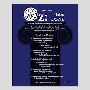 "Liber Oz 16x20"" Poster - Lapis"