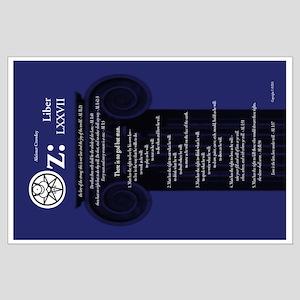 "Liber Oz 35x23"" Poster - Lapis"