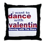 DWTS Val Fan Throw Pillow