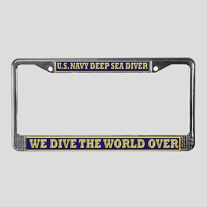 NAVY DIVER License Plate License Plate Frame