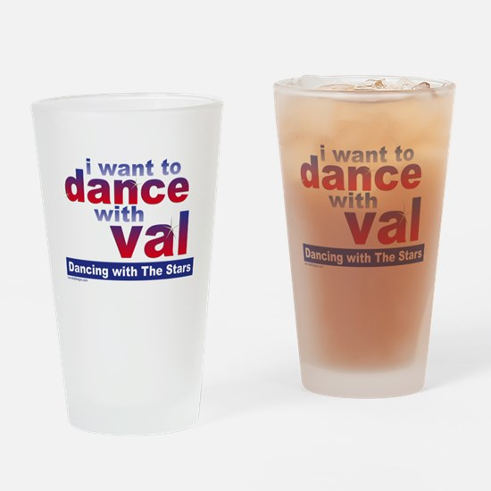 I Want to Dance with Val Drinking Glass