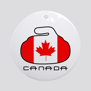 Canada Curling Ornament (Round)