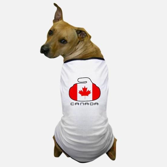 Canada Curling Dog T-Shirt