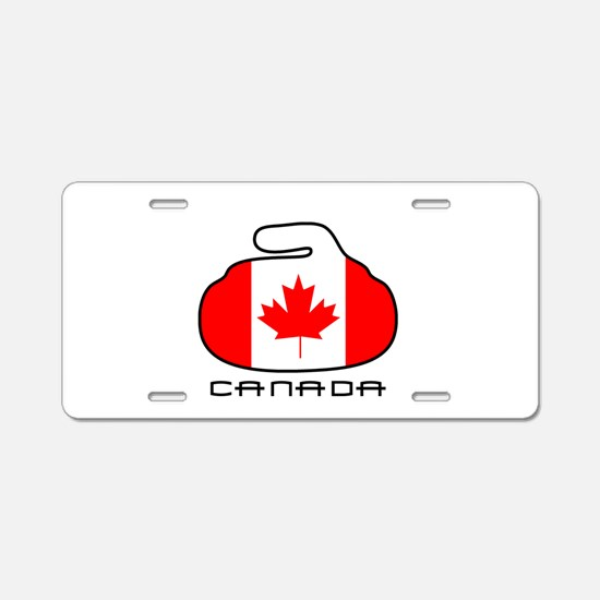 Canada Curling Aluminum License Plate