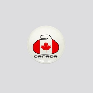 Canada Curling Mini Button