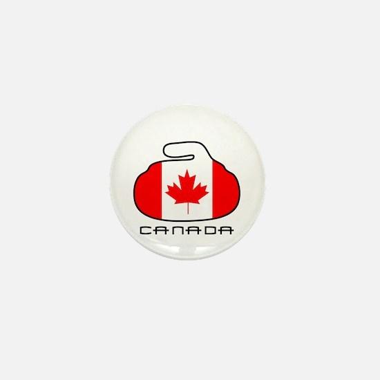 Canada Curling Mini Button
