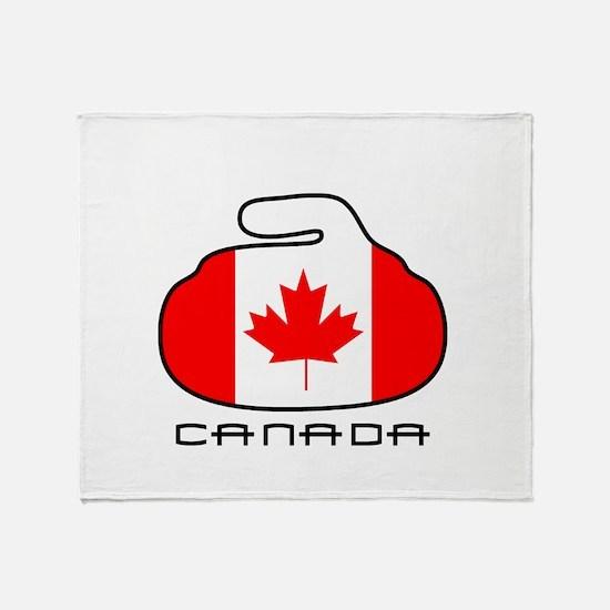 Canada Curling Throw Blanket