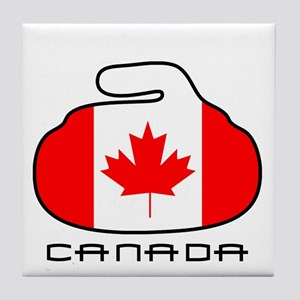 Canada Curling Tile Coaster