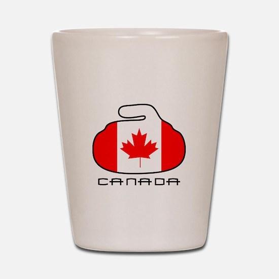 Canada Curling Shot Glass