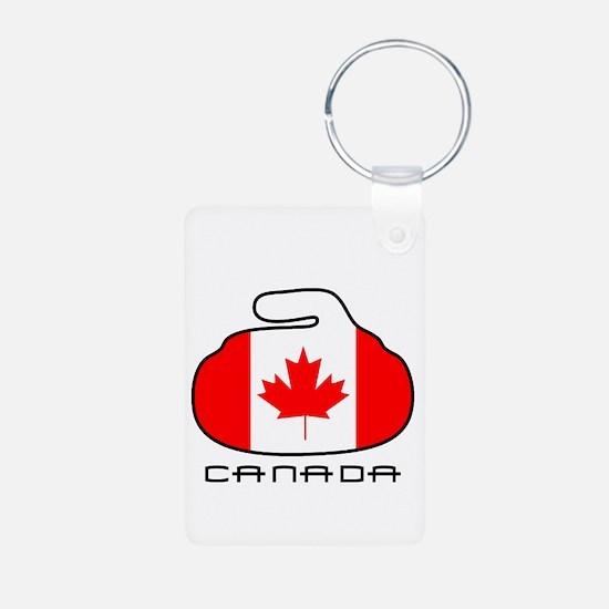 Canada Curling Keychains