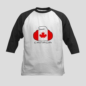 Canada Curling Kids Baseball Jersey